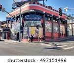 los angeles  oct 7th 2016  a... | Shutterstock . vector #497151496
