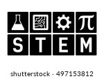 stem   science  technology ... | Shutterstock .eps vector #497153812
