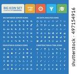 big icon set design clean vector
