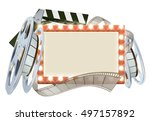 movie cinema film sign with... | Shutterstock .eps vector #497157892