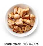 Bowl Of Grilled Chicken Meat...
