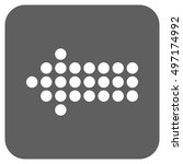 dotted arrow left vector icon.... | Shutterstock .eps vector #497174992