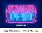 grand opening vector banner ... | Shutterstock .eps vector #497175376