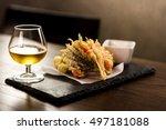 japanese cuisine  deep fried... | Shutterstock . vector #497181088