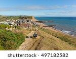 West Bay Dorset Uk Coast Path...