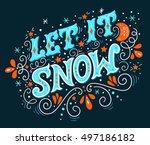 Let It Snow. Christmas Retro...