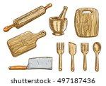 kitchen cooking tools.... | Shutterstock .eps vector #497187436