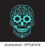 skull vector background for... | Shutterstock .eps vector #497187676