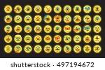 neon color line emoji icon set...   Shutterstock .eps vector #497194672