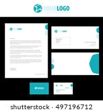 set of vector corporate... | Shutterstock .eps vector #497196712