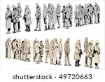 waiting people   two color... | Shutterstock .eps vector #49720663