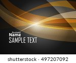 orange abstract template for... | Shutterstock .eps vector #497207092