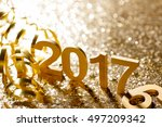 new year decoration closeup on...   Shutterstock . vector #497209342