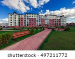 multistoried building with a... | Shutterstock . vector #497211772