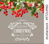 merry christmas and happy new... | Shutterstock .eps vector #497214982