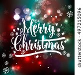 i wish you a merry christmas... | Shutterstock .eps vector #497215096