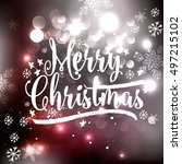 i wish you a merry christmas... | Shutterstock .eps vector #497215102