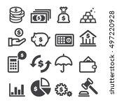 finance icons | Shutterstock .eps vector #497220928