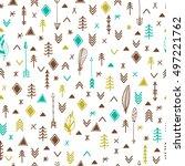 tribal hand drawn background.... | Shutterstock .eps vector #497221762