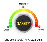 safety button position. concept ... | Shutterstock . vector #497226088