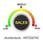 sales button position. concept... | Shutterstock . vector #497226742