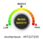 work safety button position.... | Shutterstock . vector #497227255