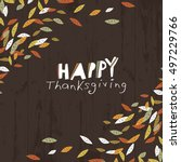 happy thanksgiving logotype.... | Shutterstock .eps vector #497229766