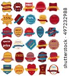 set of thirty vector badges... | Shutterstock .eps vector #497232988