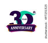 30 years anniversary... | Shutterstock .eps vector #497251525