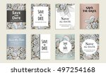 save the date. set of cards...   Shutterstock .eps vector #497254168