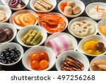 japanese food of the new year... | Shutterstock . vector #497256268