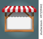 white frame with red awning   Shutterstock .eps vector #497259442