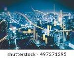business graph background ... | Shutterstock . vector #497271295