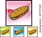submarine sandwich | Shutterstock .eps vector #49727545