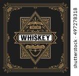 western label for whiskey or... | Shutterstock .eps vector #497278318