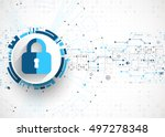 protection concept. protect... | Shutterstock .eps vector #497278348