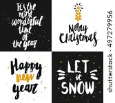 vector christmas and new year... | Shutterstock .eps vector #497279956