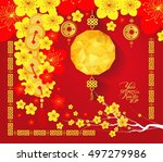 happy chinese new year 2017... | Shutterstock . vector #497279986