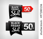 collection of black friday web... | Shutterstock .eps vector #497280136
