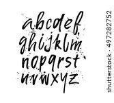 modern hand written calligraphy ... | Shutterstock .eps vector #497282752
