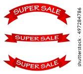sale banner. | Shutterstock .eps vector #497284786