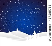 holiday christmas background... | Shutterstock .eps vector #497285758