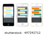 mobile messenger chat  hands...