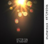 vector realistic sun on... | Shutterstock .eps vector #497293546