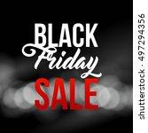 black friday sale illustration... | Shutterstock .eps vector #497294356