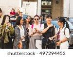 milan  italy   september 25 ... | Shutterstock . vector #497294452