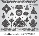 set of thai art element ... | Shutterstock .eps vector #497296042