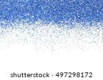 blue christmas border.   | Shutterstock . vector #497298172
