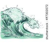 vector illustration of... | Shutterstock .eps vector #497302072