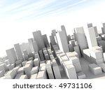 sunny day in white city model   Shutterstock . vector #49731106